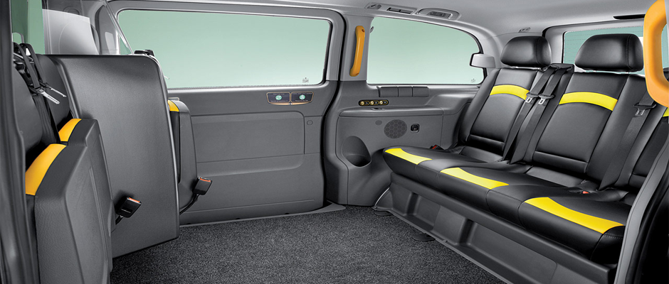 Image gallery london taxi inside for Interior mercedes vito